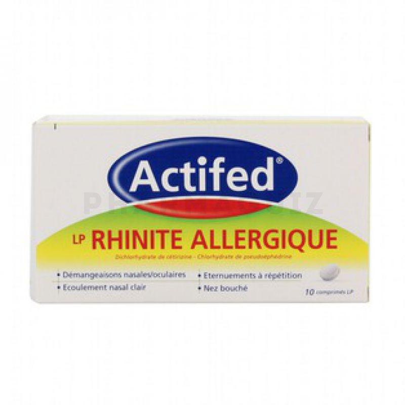Actifed duo rhinites allergiques - Pharmaguiz
