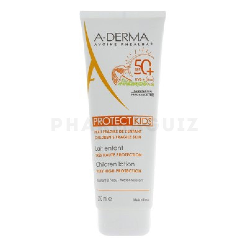 A-Derma ProtectKids lait indice 50+ 250ml