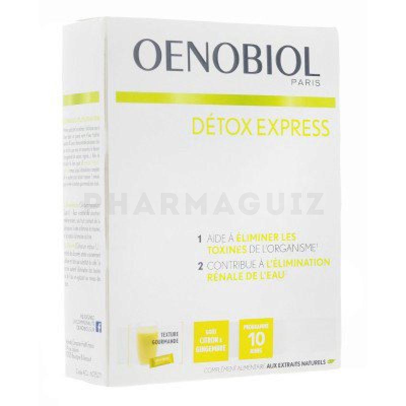 oenobiol detox express citron gingembre 10 sticks pharmaguiz. Black Bedroom Furniture Sets. Home Design Ideas