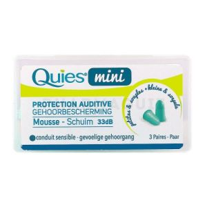Quies protection auditive mini mousse 3 paires