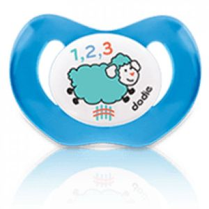 "Dodie SUCETTE +18 MOIS ""NUIT MOUTON"" PHYSIO SILICONE N°P48"