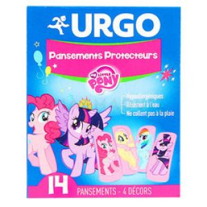 Urgo pansements Protecteurs My little Pony 14 pansements 2,5cm x 5,7cm