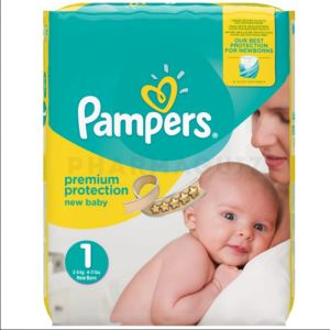PAMPERS - Couches New Baby - Taille 1 (2-5kg), 22 couches