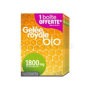 Gelée Royale Bio 1800 mg Lot de 3 x 10 Ampoules