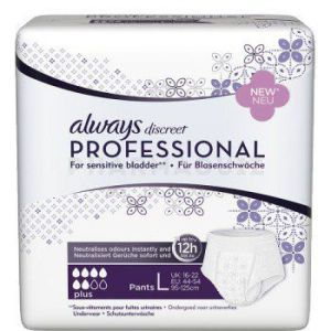 Always Discreet Professional Plus Taille M 14 Protections Incontinence