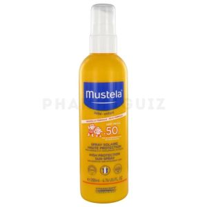 Mustela solaire SPF50 spray haute protection 200 ml