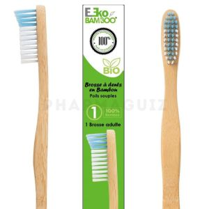 MaxiBamboo, Brosse à dents Adulte Bleue Bio