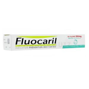 Fluocaril bi-fluoré gel dentifrice menthe 250 mg 75 ml