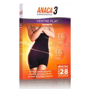 Anaca 3 Ventre Plat Shorty L/XL Noir