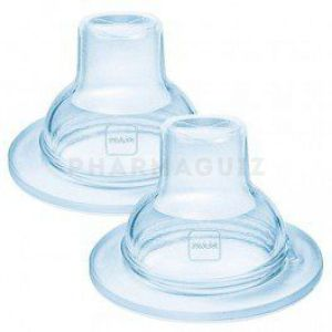 MAM Bec Souple Antifuite Silicone Transparent - Lot de 2