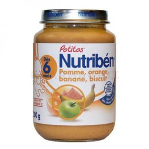 "Nutriben Potitos ""Pomme, orange, banane, biscuit"" 200g"