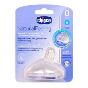 Chicco Natural Feeling tétine inclinée + 0 mois