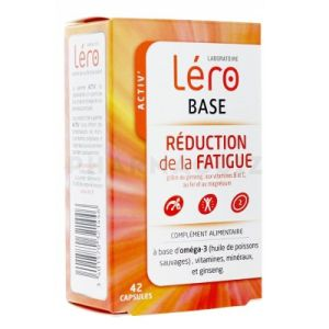 Léro BASE RÉDUCTION de la FATIGUE 42 capsules