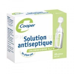 Cooper Solution Antiseptique 12 Unidoses de 5ml