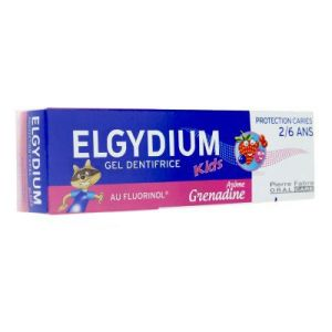 Elgydium Kids gel dentifrice grenadine 50 ml