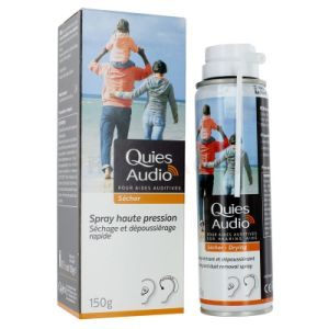 Quies Audio Spray Sechant Aides Auditives 150g