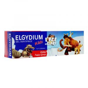 Elgydium Kids gel dentifrice Age de Glace fraise givrée 50 ml
