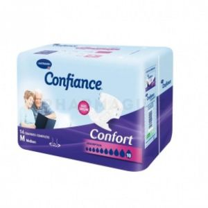 Confiance Confort protection anatomique absorption 10 - paquet de 14 protections taille medium